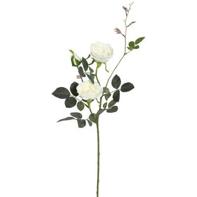 Artificial (Pk/3)Rose Spray (31 )White - Vickerman