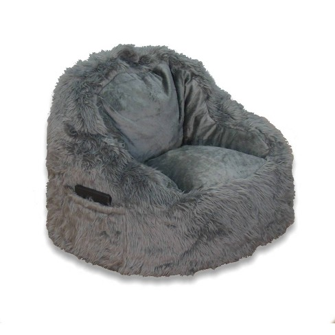 Faux Fur Structured Chair with Pocket - ACEssentials - image 1 of 4