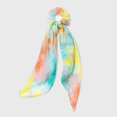 Tie-Dye Printed Chiffon Scarf Twister - Wild Fable™