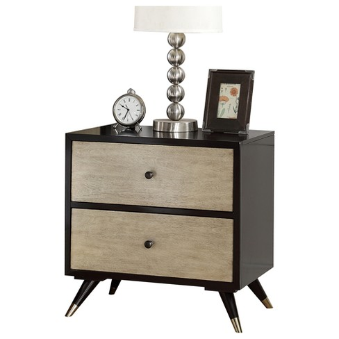 Mccarthy Mid Century 2 Drawer Nightstand - Brown - Abbyson - image 1 of 3