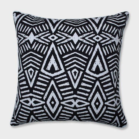 """25"""" Tribal Dimensions Floor Pillow Black - Pillow Perfect - image 1 of 1"""