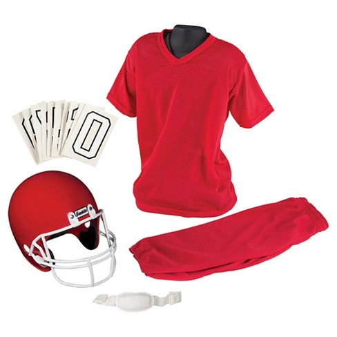 Franklin Sports Youth Medium Football Uniform Set - Red - image 1 of 3