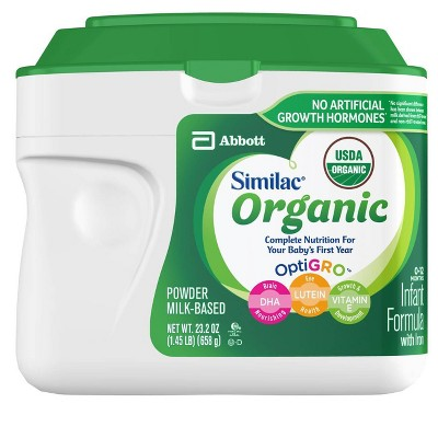 Similac Organic Non-GMO Infant Formula with Iron Powder - 23.2oz
