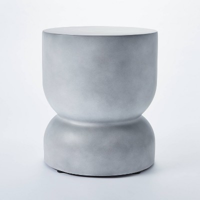 Palisades Hourglass Concrete Accent Table Gray - Threshold™ designed with Studio McGee