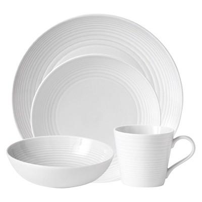 Gordon Ramsay by Royal Doulton® Maze 4pc Dinnerware Set White
