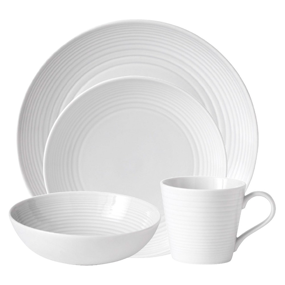Image of Gordon Ramsay by Royal Doulton Maze 4pc Dinnerware Set White