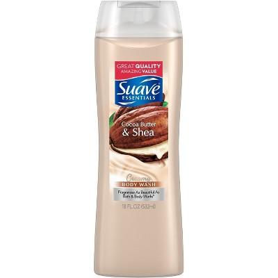 Suave Essentials Creamy Cocoa Butter and Shea Body Wash - 18 fl oz