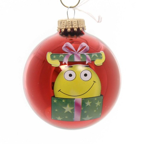 Holiday Ornaments Emoji Christmas Ball Emotions Web Electronic Message  - - image 1 of 2