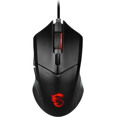 MSI Clutch GM08 Gaming Mouse - Optical - Cable - Black - USB 2.0 - 4200 dpi - Scroll Wheel - 6 Button(s) - Medium Hand/Palm Size - Symmetrical