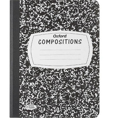 """Oxford Composition Notebook 7.5"""" x 9.75"""" Wide Ruled 120 Sheets 532986"""