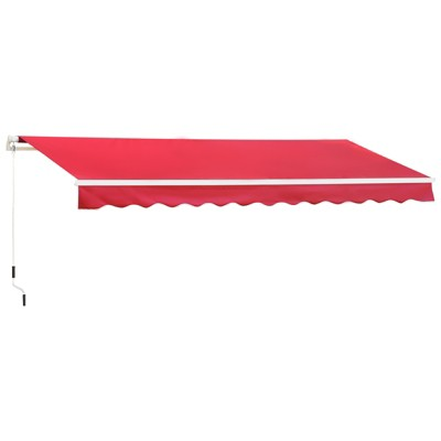 Outsunny 13' x 8' Manual Retractable Patio Sun Shade Awning