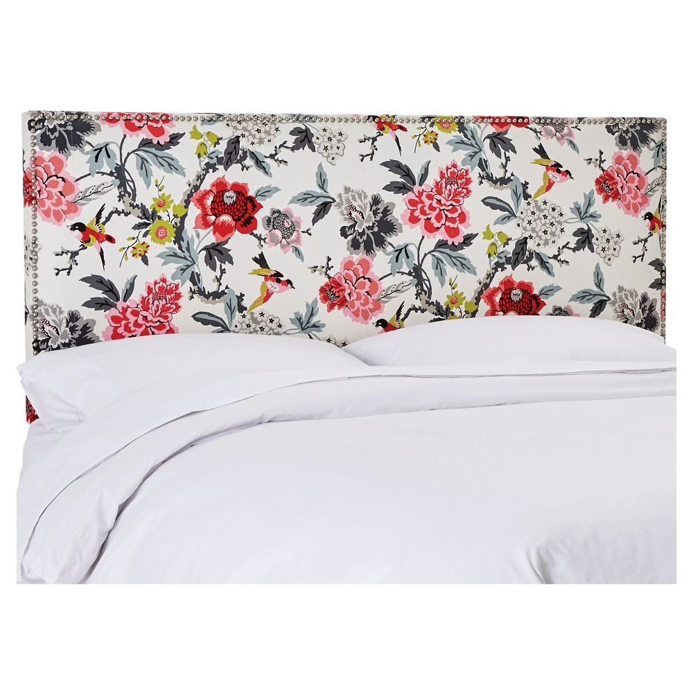 Twin Arcadia Nailbutton Patterned Headboard Candid Moment Black - Skyline Furniture