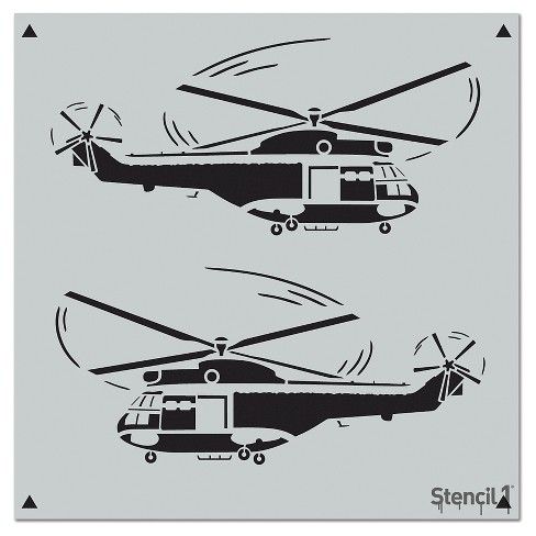 "Stencil1® Helicopters Repeating - Wall Stencil 11"" x 11"" - image 1 of 3"