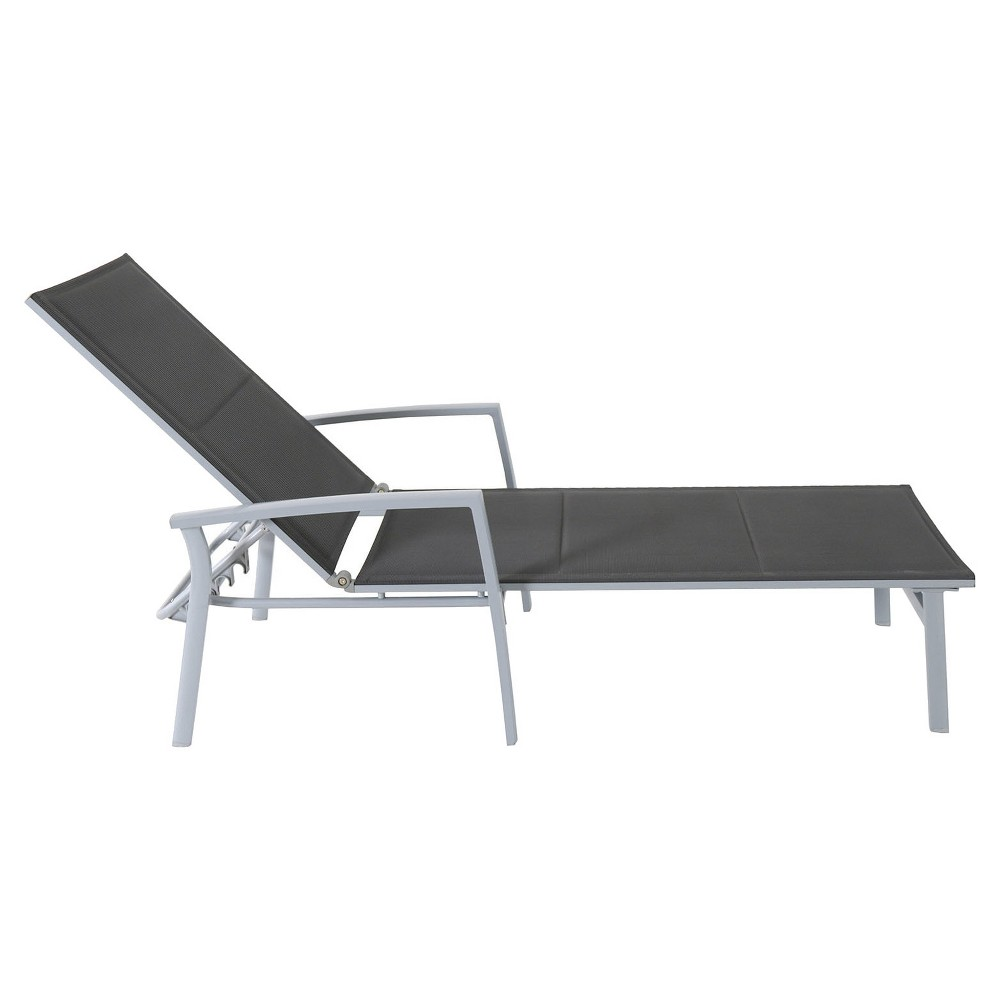Padded Sling Chaise Lounge Chair - Gray - Hanover