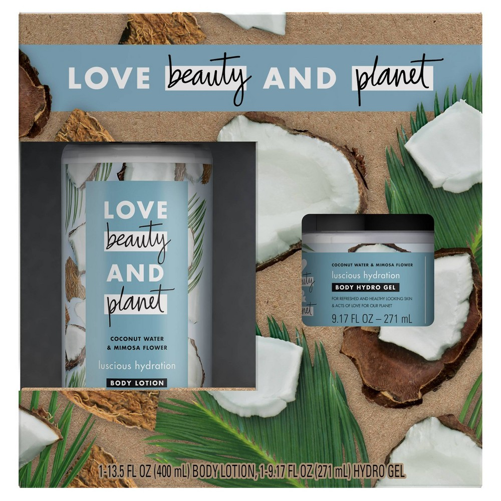 Image of Love Beauty and Planet Coconut Body Lotion & Hydrogel Set