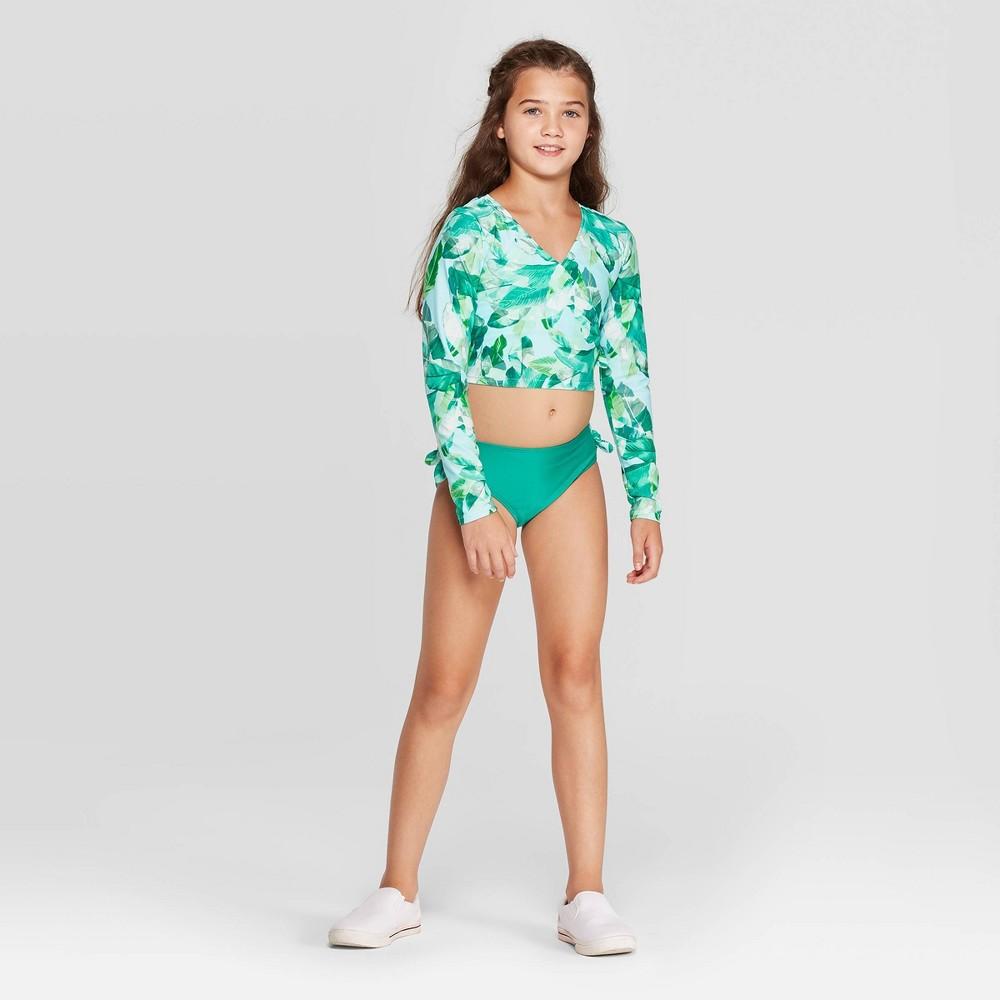 Girl 39 Bikini wimuit and Long leeve Crop Top Rahguard wim hirt et art cla 8482