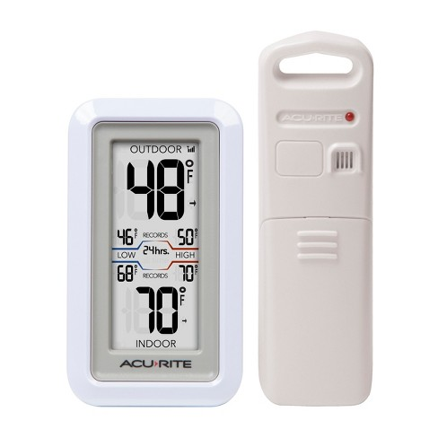 Digital Weather Thermometer With Indoor Outdoor Sensor Acurite Target