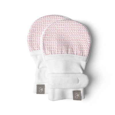 Goumi Baby Girls' Organic Cotton Drops Mittens – Pink 0-3M