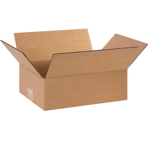 The Packaging Wholesalers 12 x 9 x 4 Shipping Boxes, ECT 32, Brown 120904 - image 1 of 1