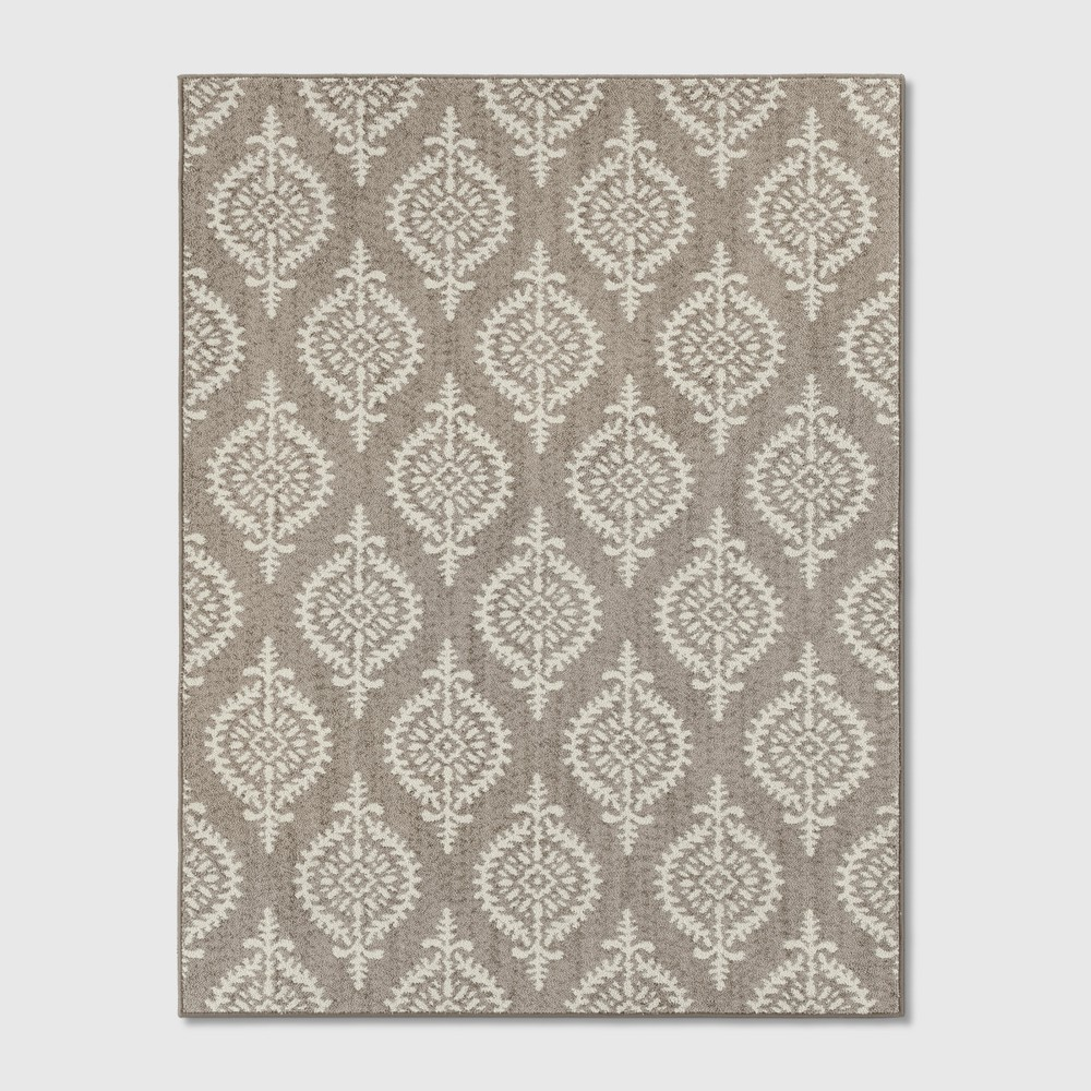 Paisley Tufted Area Rugs Gray