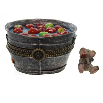 Boyds Bears Resin Granny Smith's Apple Bobbin B Halloween Treasure Box  -  Decorative Figurines