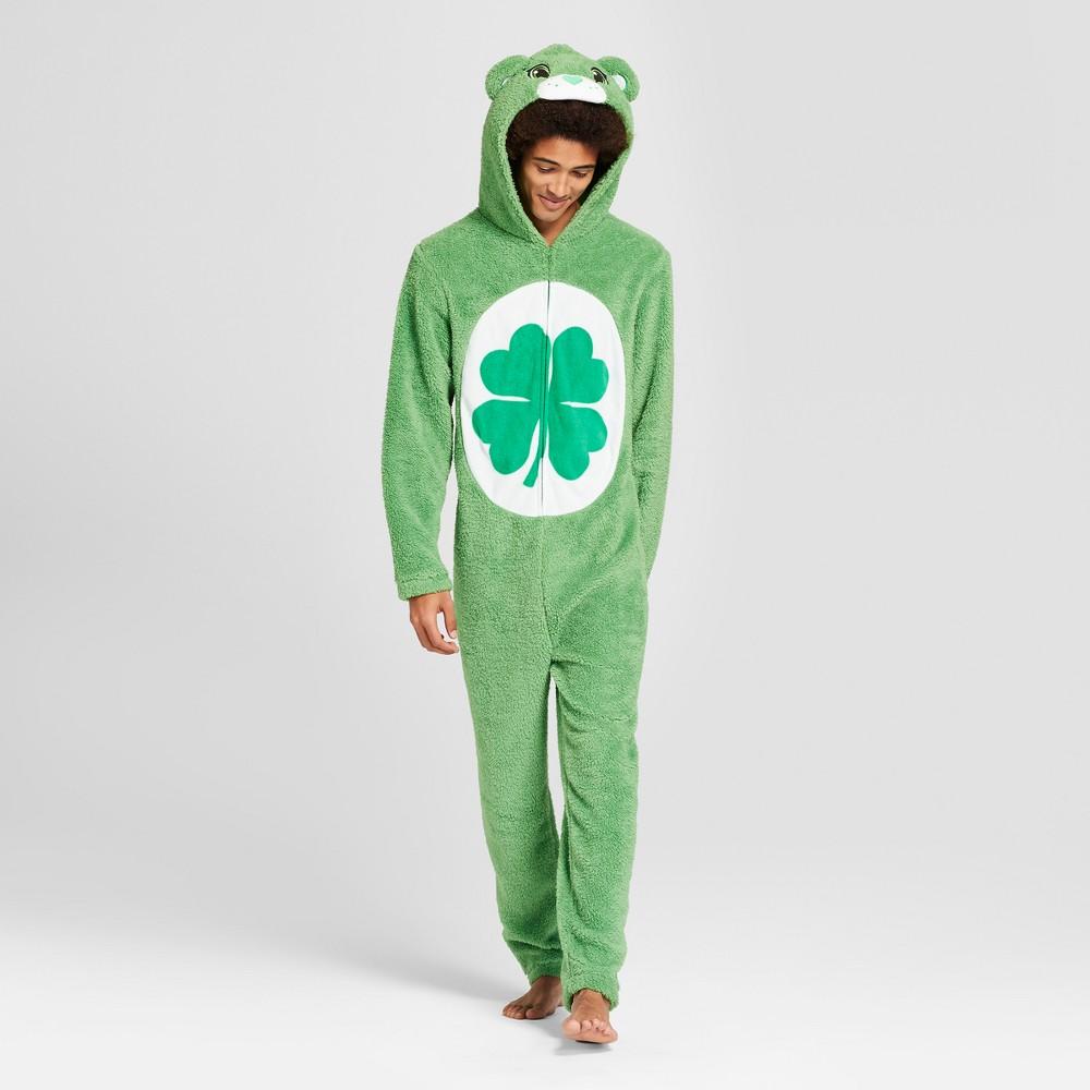 Men's Fleece Care Bears Union Suit - Green M