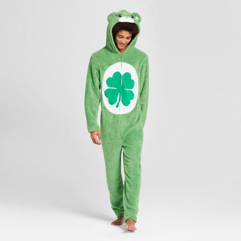 46ec295b9b Men s Fleece Care Bears Union Suit - Green   Target