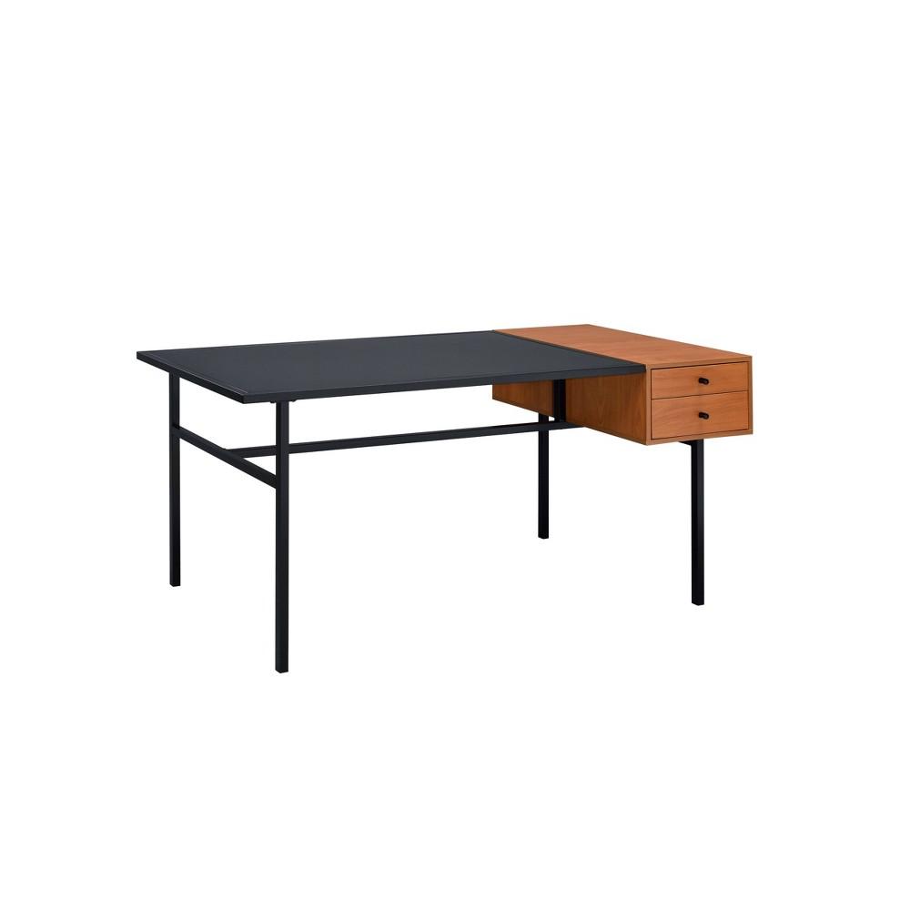 Oaken Desk Honey Oak/Black - Acme Furniture Oaken Desk Honey Oak/Black - Acme Furniture