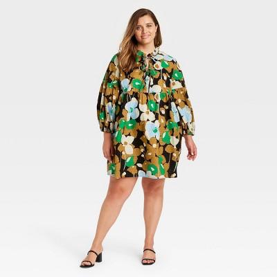Women's Puff Long Sleeve A-Line Dress - Who What Wear™