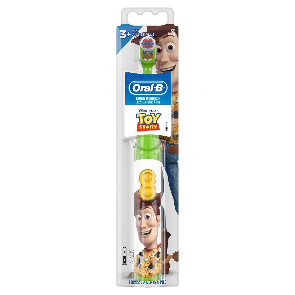 Image of Disney Pixar Featuring Toy Story Kid's Battery Soft Bristles Toothbrush for Kids 3+