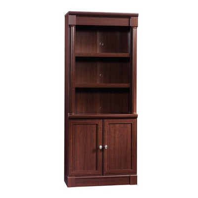 "72"" Palladia Library with Doors Select Cherry Red - Sauder"