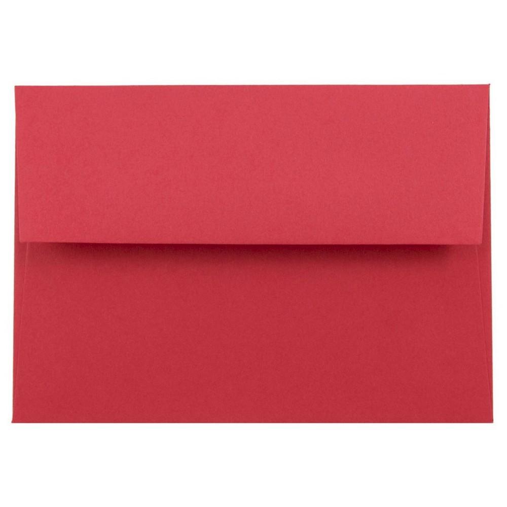 Jam Paper Brite Hue 4bar A1 Envelopes, 3 5/8 x 5 1/8, 50 per pack, Red