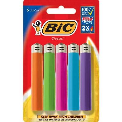 Bic 5pk Classic Lighters