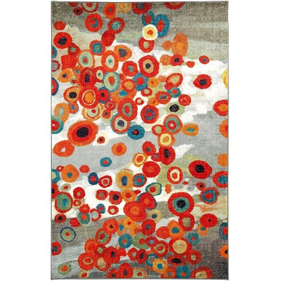 Tossed Floral Multi Area Rug - Mohawk