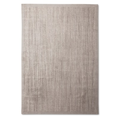 7'X10' Solid Woven Boarder Area Rug Light Gray - Threshold™