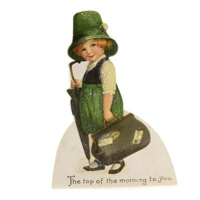 "Saint Patricks 6.5"" Luck O' The Irish Dummy Board Umbrella  -  Decorative Figurines"
