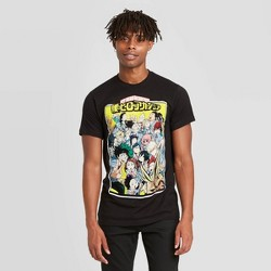 Men's My Hero Academia Short Sleeve Graphic T-Shirt - Black