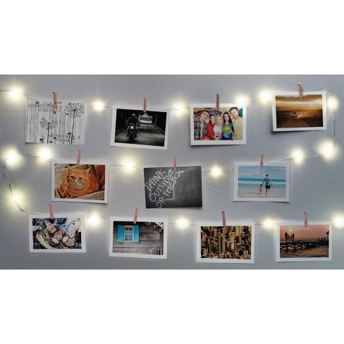 Merkury Innovations Chrome Firefly Mini Clip LED String Lights - Rose Gold - image 1 of 3