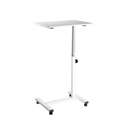 """23.6"""" Overbed Adjustable Height Mobile Side Table Cart - Seville Classics"""