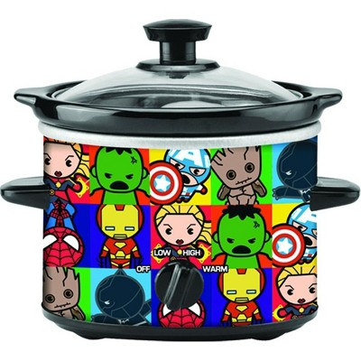 Uncanny Brands Marvel Avengers Kawaii 2 Quart Slow Cooker