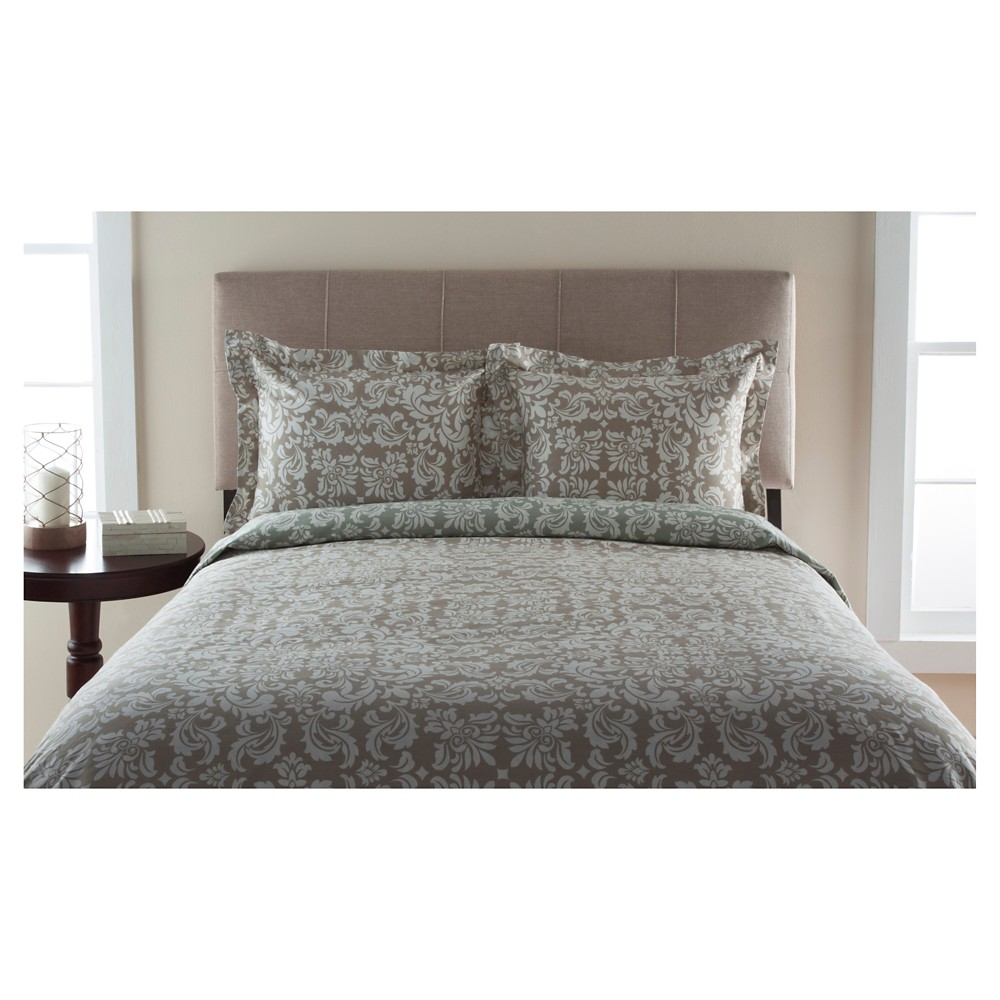 300tc Canterbury Scroll 100% Cotton Duvet Set (King) Tan