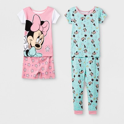 Baby Girls' Minnie Mouse 4pc Pajama Set - Pink 18M