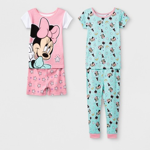 854ed92f5f Toddler Girls  Minnie Mouse 4pc Pajama Set - Pink 4T   Target