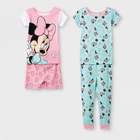 192f6e5d9b Toddler Girls  Minnie Mouse 4pc Pajama Set - Pink 4T   Target