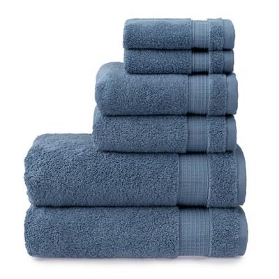 6pc Noah Bath Towel Set Blue - Martha Stewart