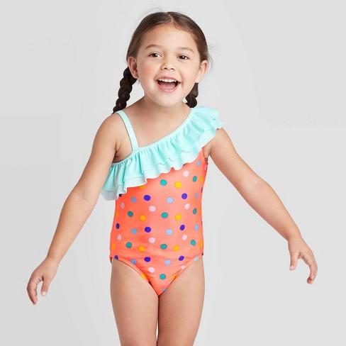 Carters Baby Girls Polka Dot 1 Piece Swim