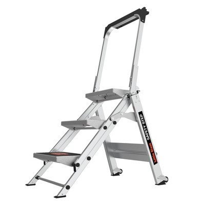 Little Giant Ladder Systems 3-step ANSI Type IA 300 lb Aluminum Stepstool with handrail Gray