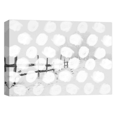"Dots In The Field Decorative Canvas Wall Art 11""x14"" - PTM Images - image 1 of 1"