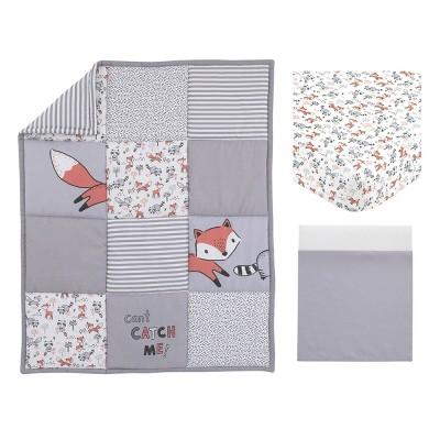 NoJo Little Love Lil Fox Nursery Crib Bedding Set - 3pc