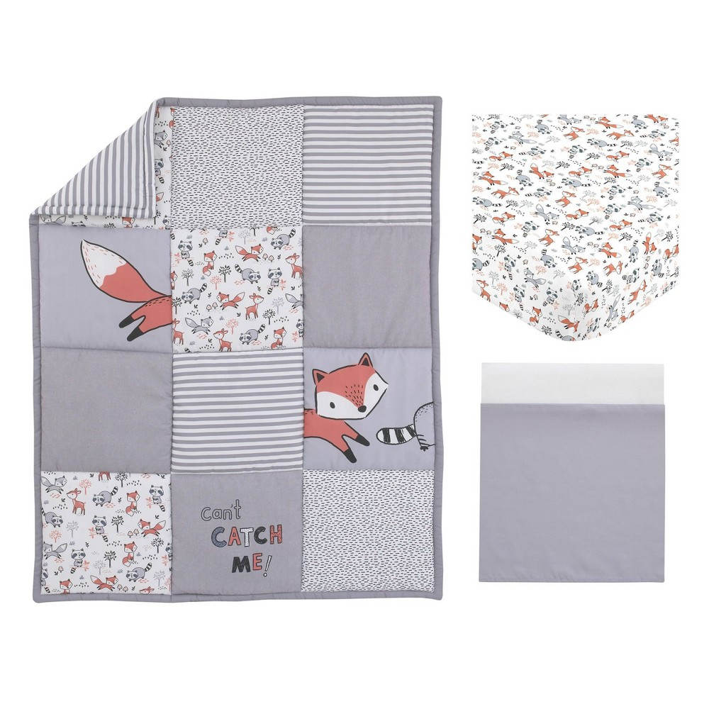 Image of NoJo Little Love Lil Fox Nursery Crib Bedding Set - 3pc